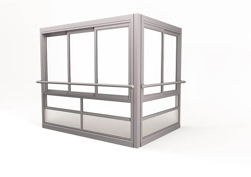 <span>Twin® Air </span>Verglasungssystem mit großen gerahmten Fenstern