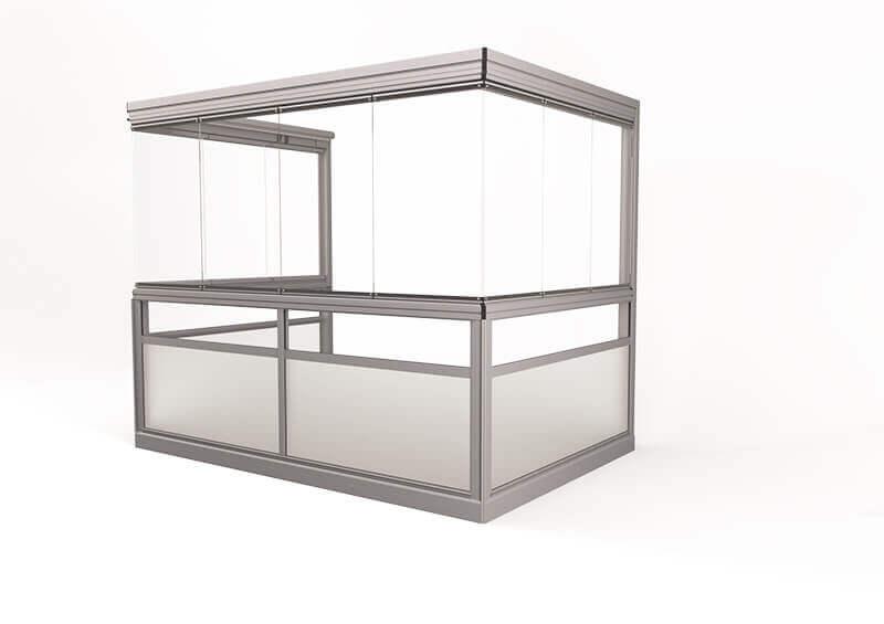 <span>Vision® Sight </span>Verglasungssystem mit rahmenlosen Fenstern, ohne Eckpfeiler.